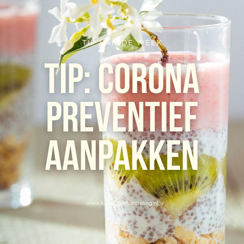 Corona preventief aanpakken